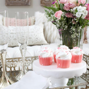 Romantic Blush Pink Living Room: Valentines Day Decor