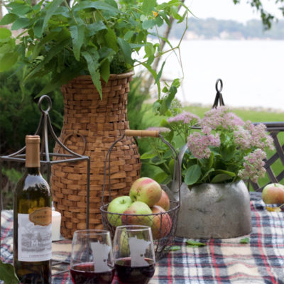Lakeside Fall Tablescape