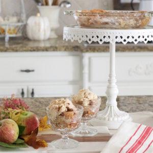 Traditional Fall Decor + Easy Apple Cobbler Recipe