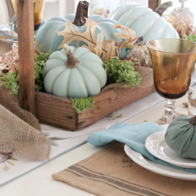 Blue Fall Decor