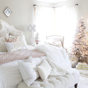 Home For Christmas – A Blush Pink Bedroom