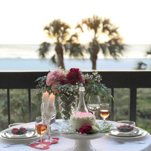 A Beachside Valentines Day Tablescape