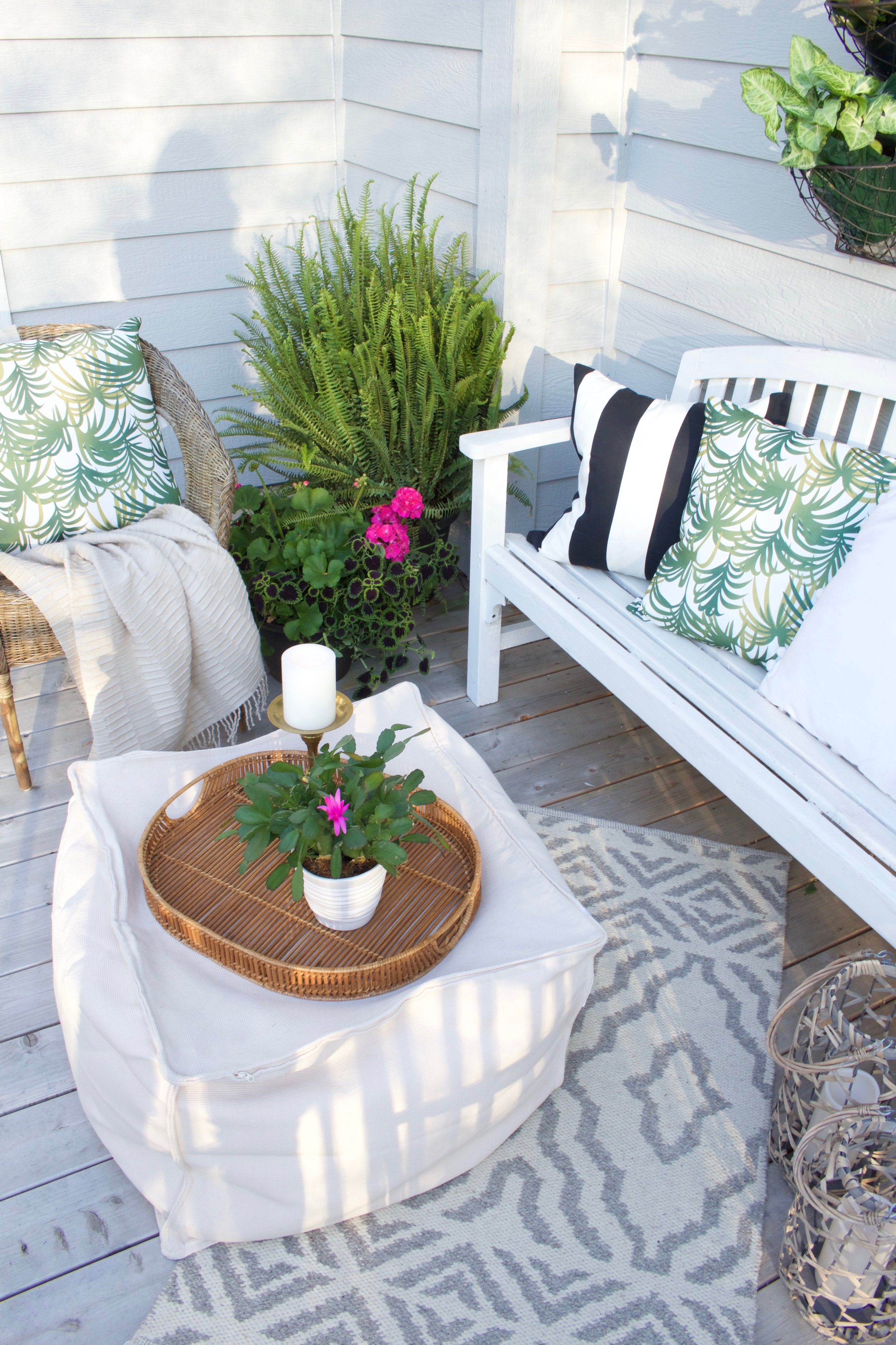 Easy Outdoor Deck Decor Before And