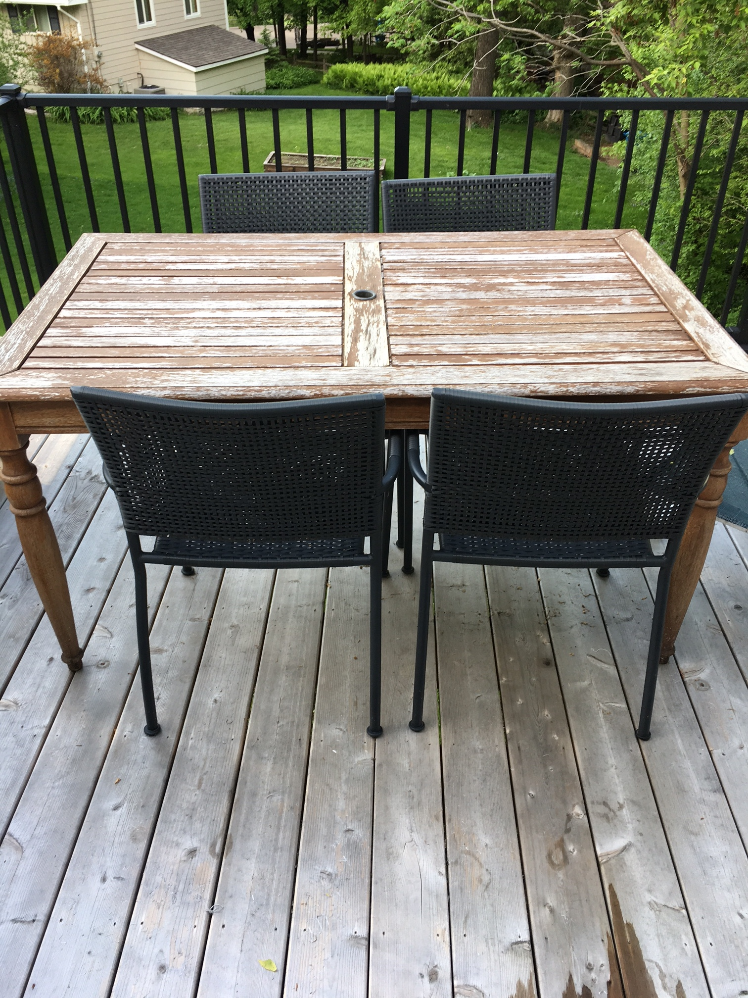 Easy Outdoor Deck Decor Before And After Styled With Lace
