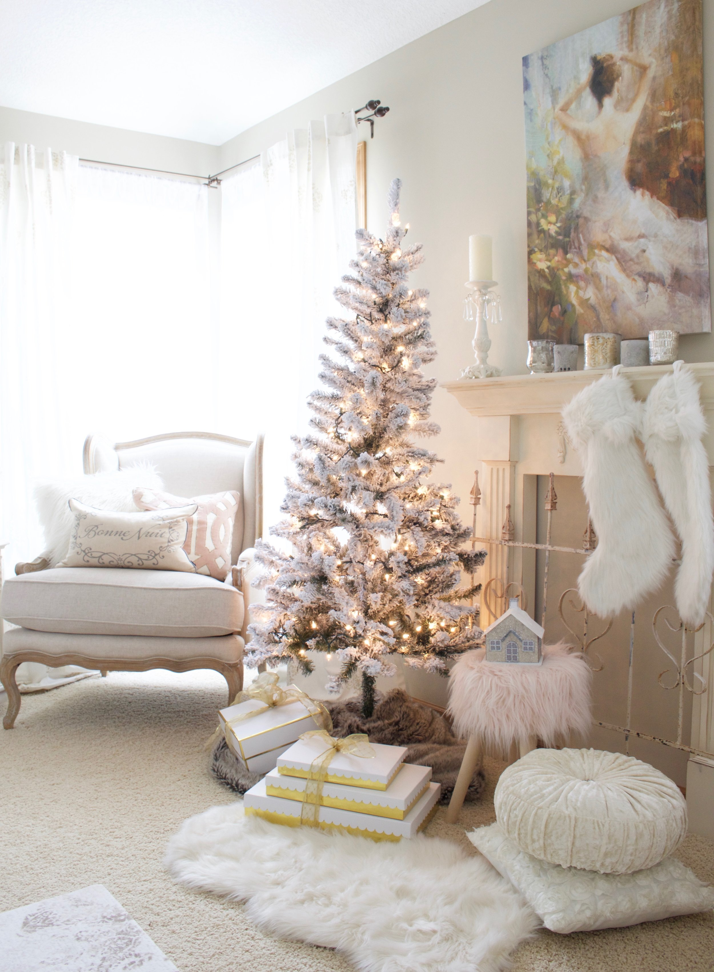 5f1894d14c192 Home For Christmas - A Blush Pink Bedroom - Styled With Lace