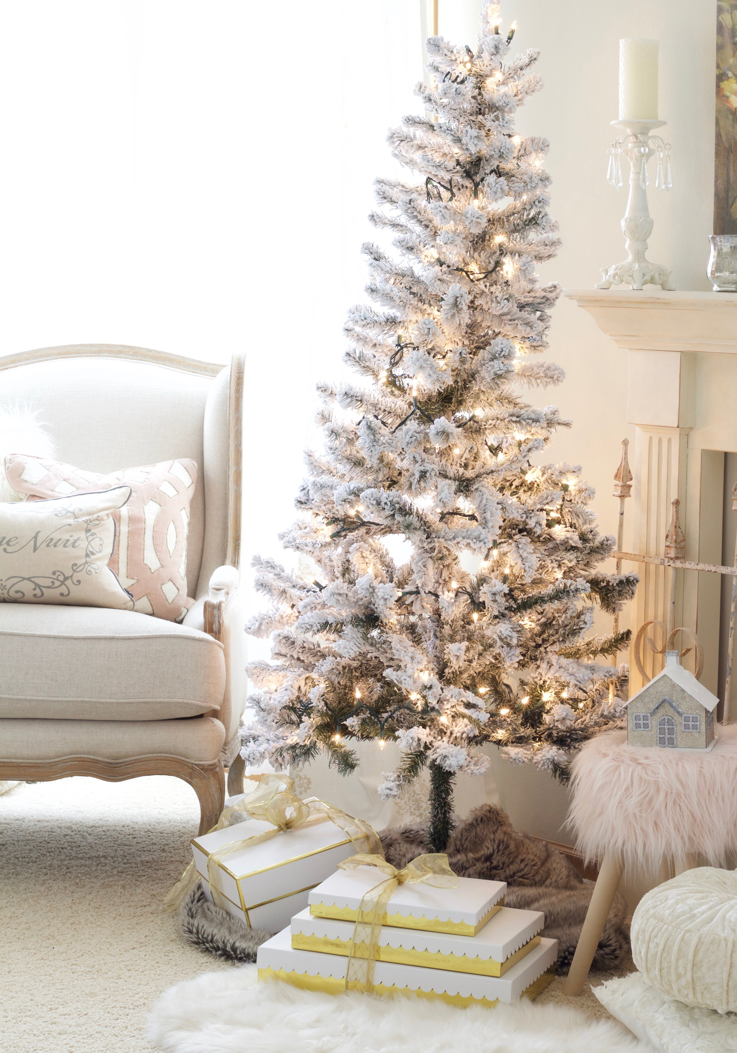 Home For Christmas A Blush Pink Bedroom Styled With Lace