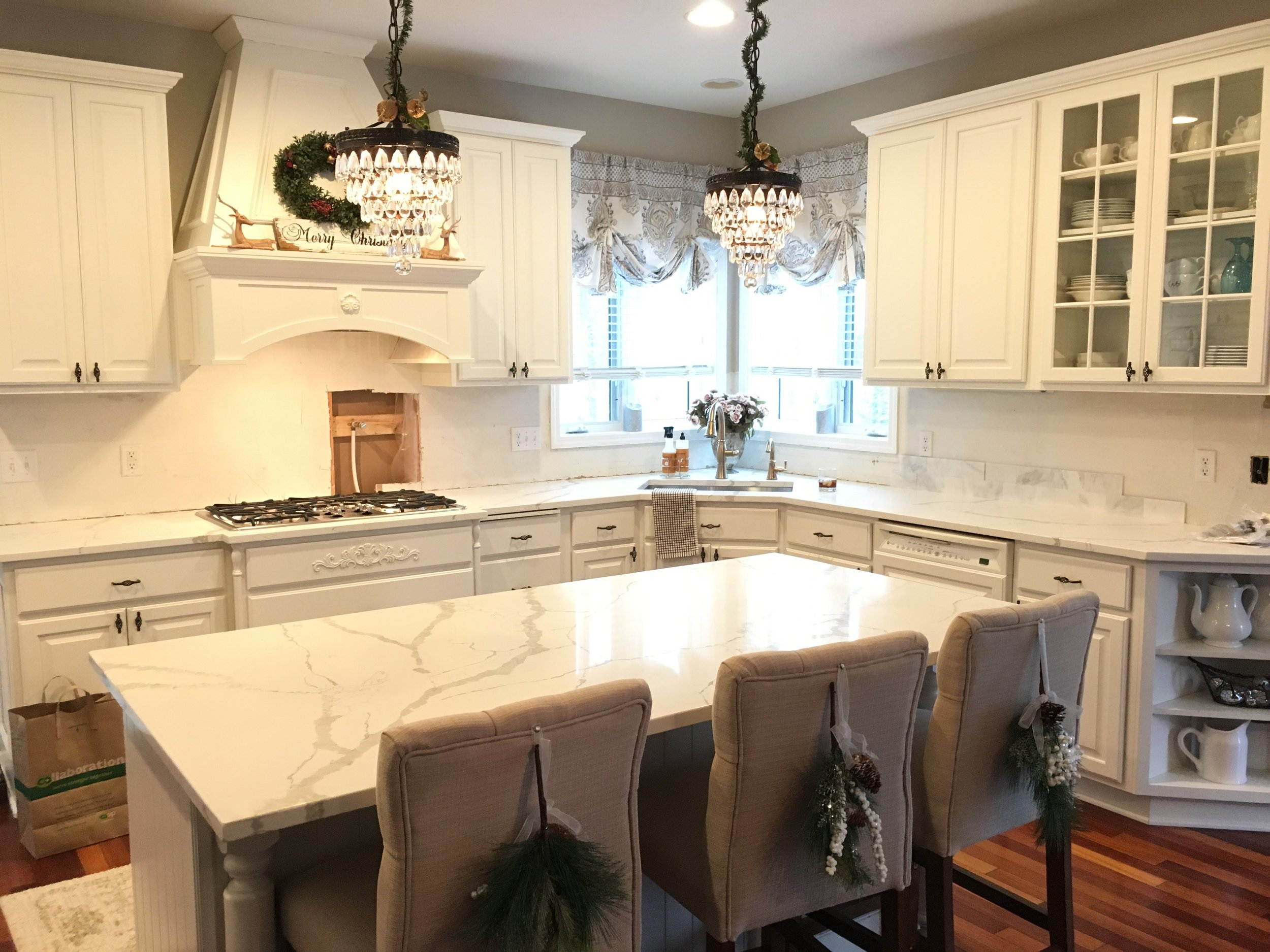 Kim S Bright White Kitchen Remodel Styled With Lace