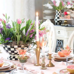 Whimsical Easter Tablescape with MacKenzie-Childs
