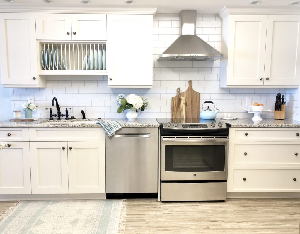 wallpaper backsplash styled - Styled With Lace