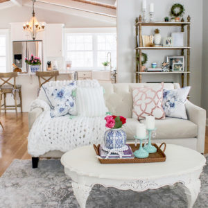 Pops of Mint Blue | Spring Home Tour