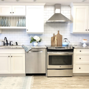 DIY Subway Tile Wallpaper Backsplash