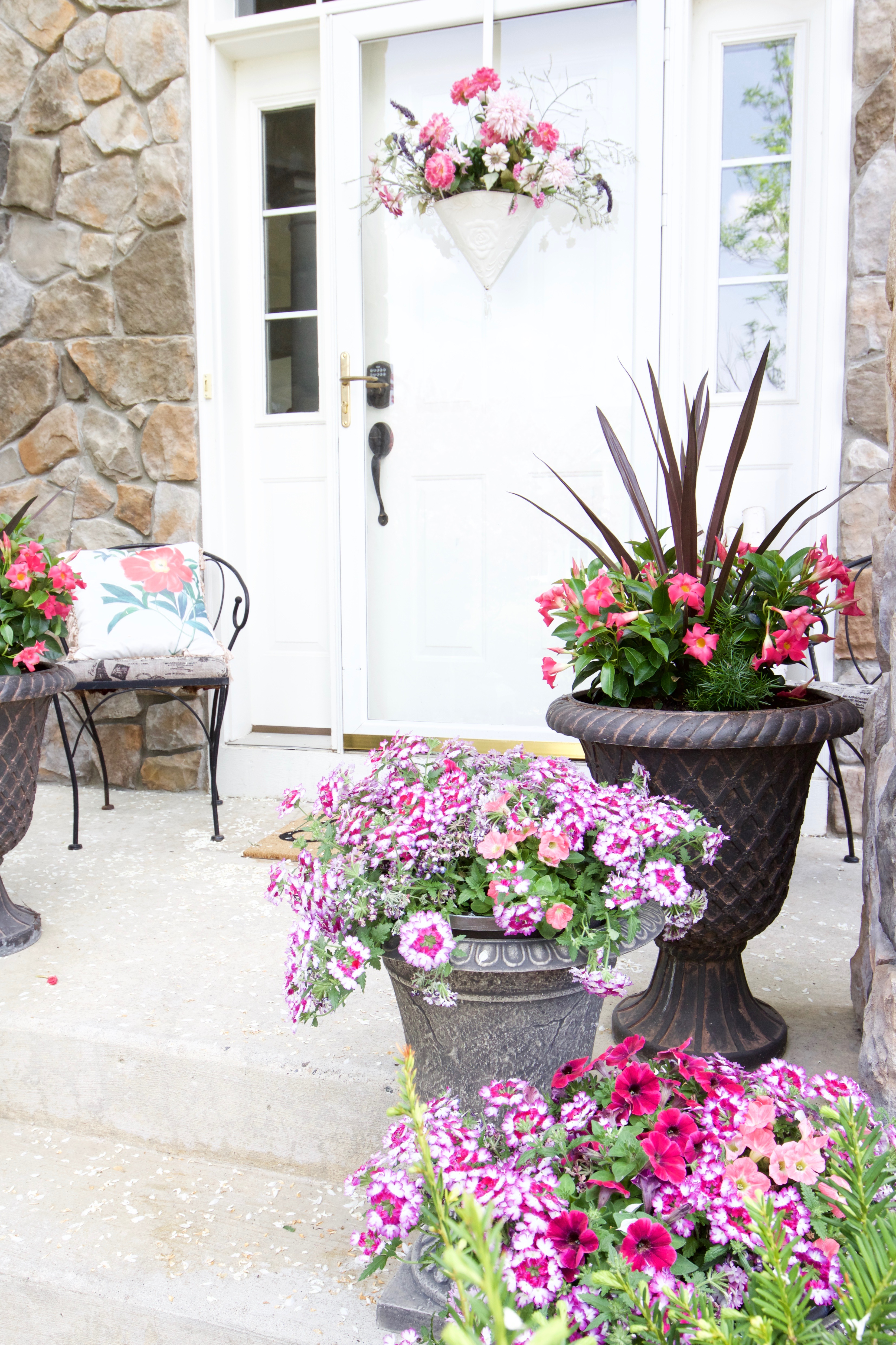 Decorating With Potted Flowers On The Front Porch A Gardening And