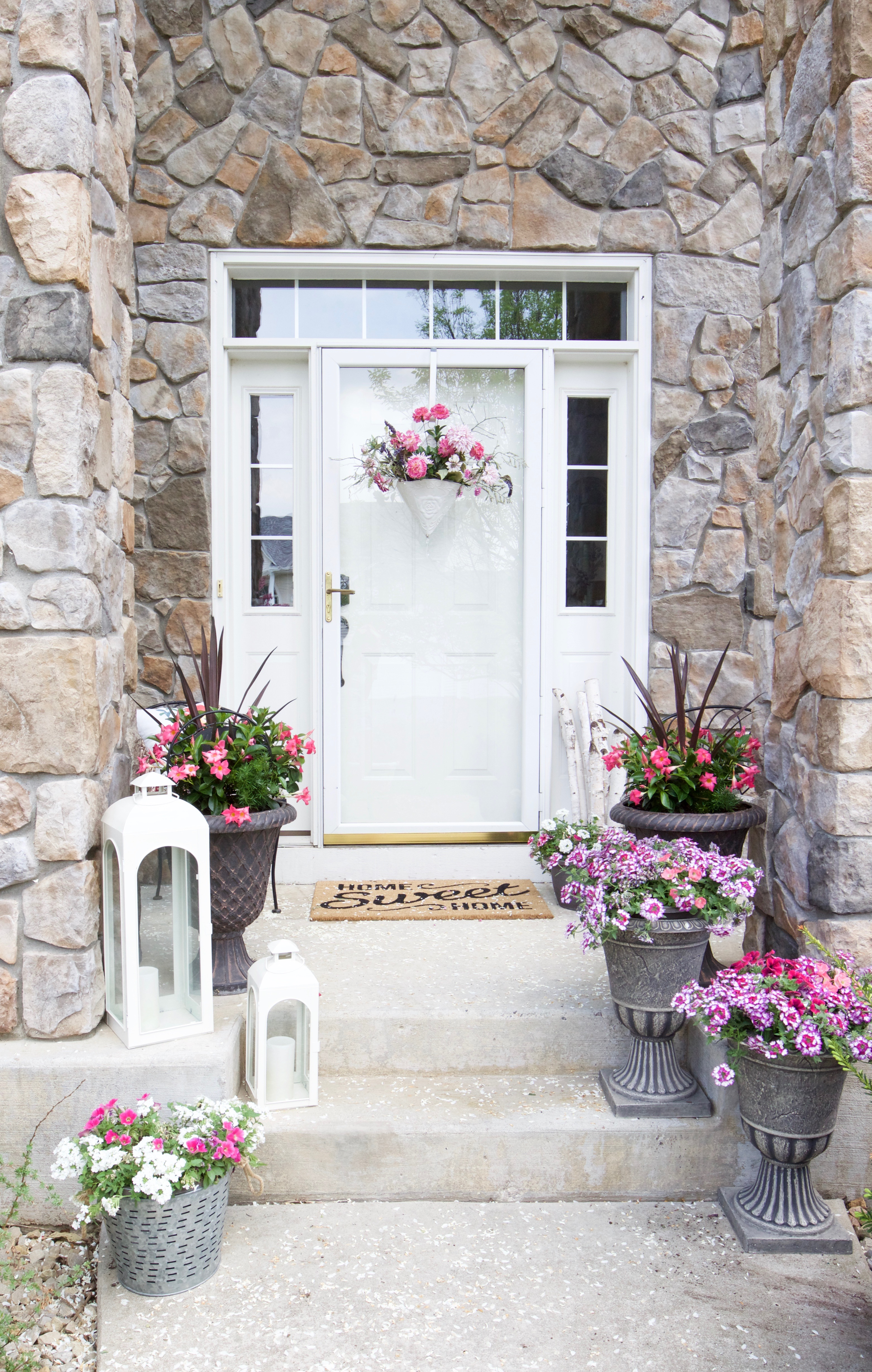 Decorating with Potted Flowers on the Front Porch - A