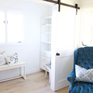 One Room Challenge Week 3: Closet with Sliding Barn Doors