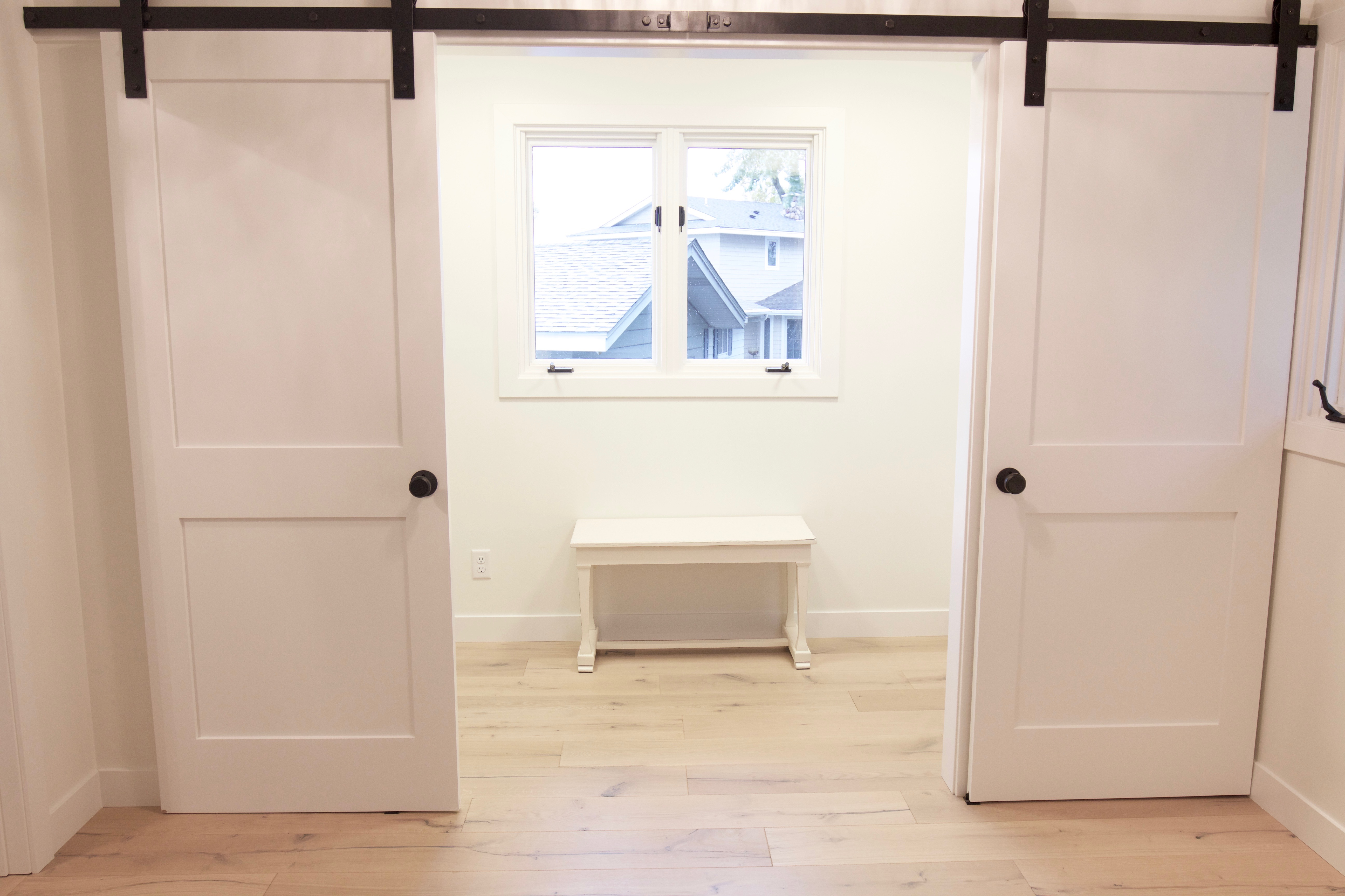 One Room Challenge Week 3 Closet With Sliding Barn Doors Styled