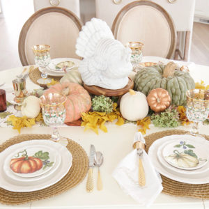 Festive Fall Tablescape for a Casual Thanksgiving Dinner