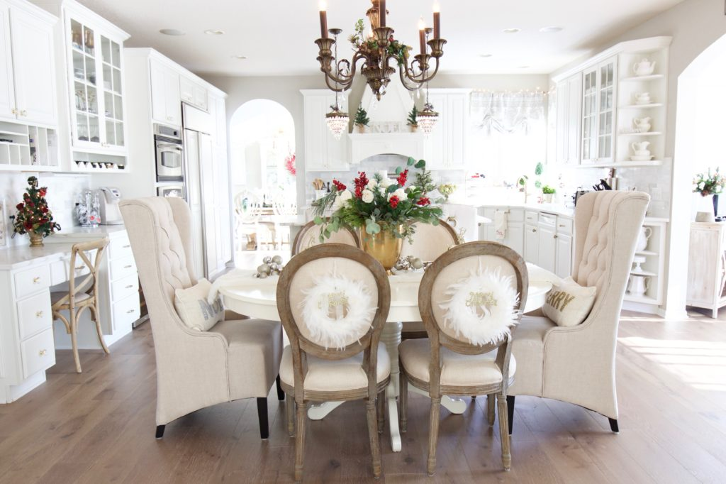 Rustic Glam Christmas Kitchen Styled With Lace