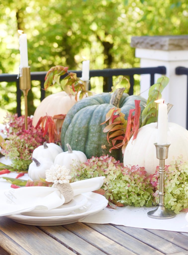 Thanksgiving Outdoor Harvest Tablescape