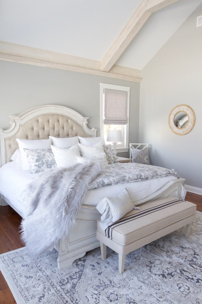 New Lake House Bedroom Reveal With Bed Bath And Beyond Styled With Lace